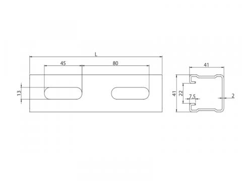 Profil de montaj 41/41 MF2,0-3000 mm de la Util Instal Construct Srl