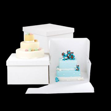 Cutii albe tort 40x40x40cm 10 buc/set de la Cristian Food Industry Srl.