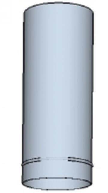 Tub rotund din otel inoxidabil  130 500mm