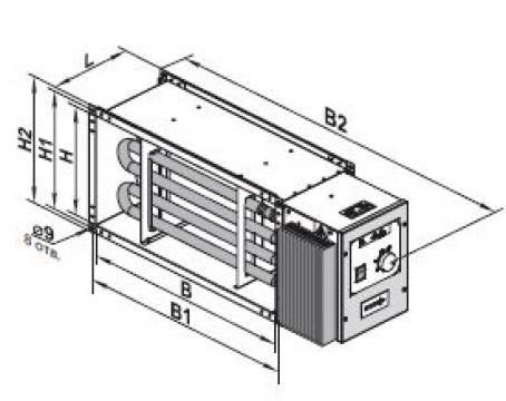Incalzitor aer electric NK-U 600x350-18.0-3