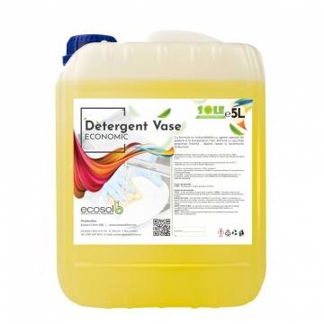 Detergent lichid vase economic manual 5L AQA Choice de la Sanito Distribution Srl