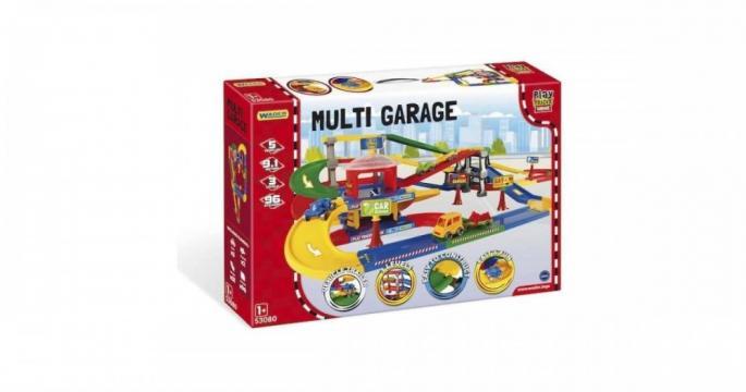 Jucarie Mega garaj pista cu masinute Wader 9,1m