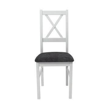 Scaun living Nilo10 B24Z, alb, 43x94x40 cm, lemn masiv de la CB Furniture Srl