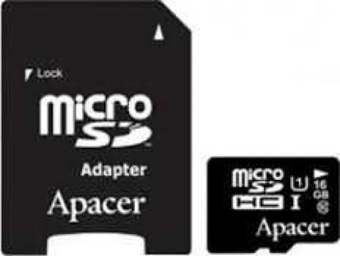 Card de memorie Micro SDHC UHS-I 16GB Clasa 10 cu adaptor SD de la Mobilab Creations Srl