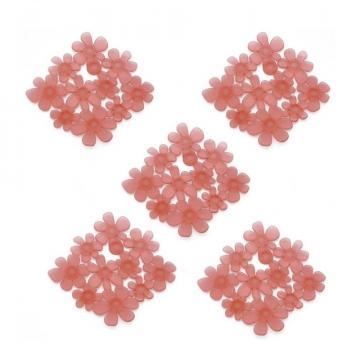Autocolante antiderapante pentru baie, set 5 buc - Flori roz de la Plasma Trade Srl (happymax.ro)