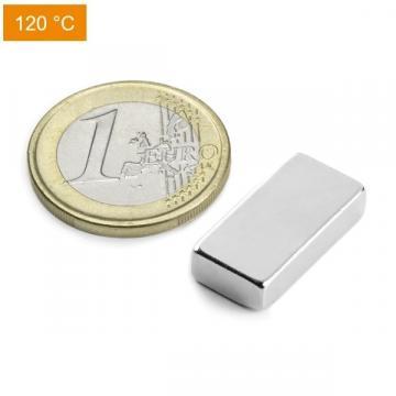 Magnet neodim bloc, 20x10x5 mm, putere 5,3 kg, N38H de la Arca Hobber Srl