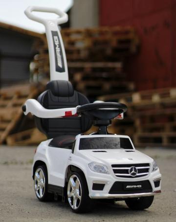 Jucarie masinuta cu maner pentru copii 3 in 1 Mercedes GL63