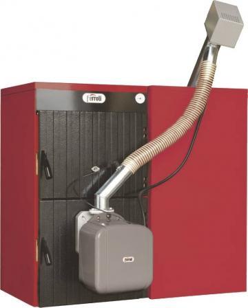 Cazan mixt lemn/pelet Ferroli Sunpellet 6, 42kW de la Axa Industries Srl