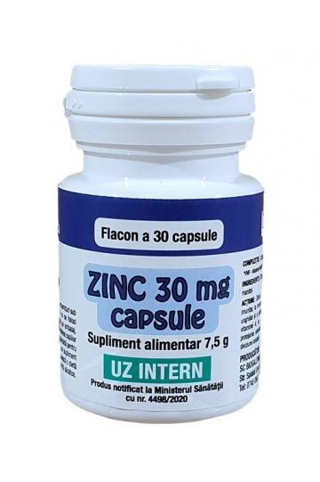 Supliment alimentar Zinc 30 mg - 30 capsule de la Medaz Life Consum Srl