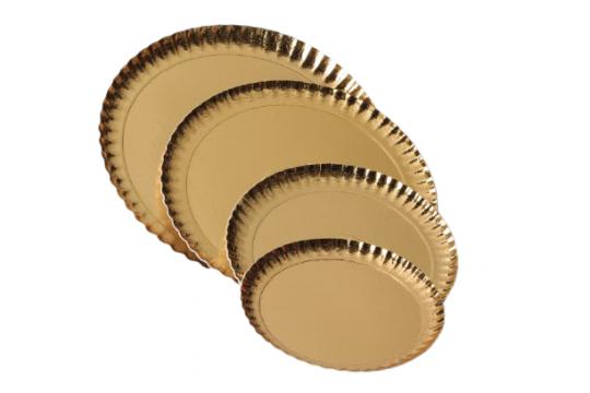 Farfurii groase carton auriu 38cm de la Cristian Food Industry Srl.
