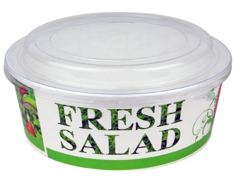 Bol carton Fresh Salad 1250cc, 100 buc/set de la Cristian Food Industry Srl.