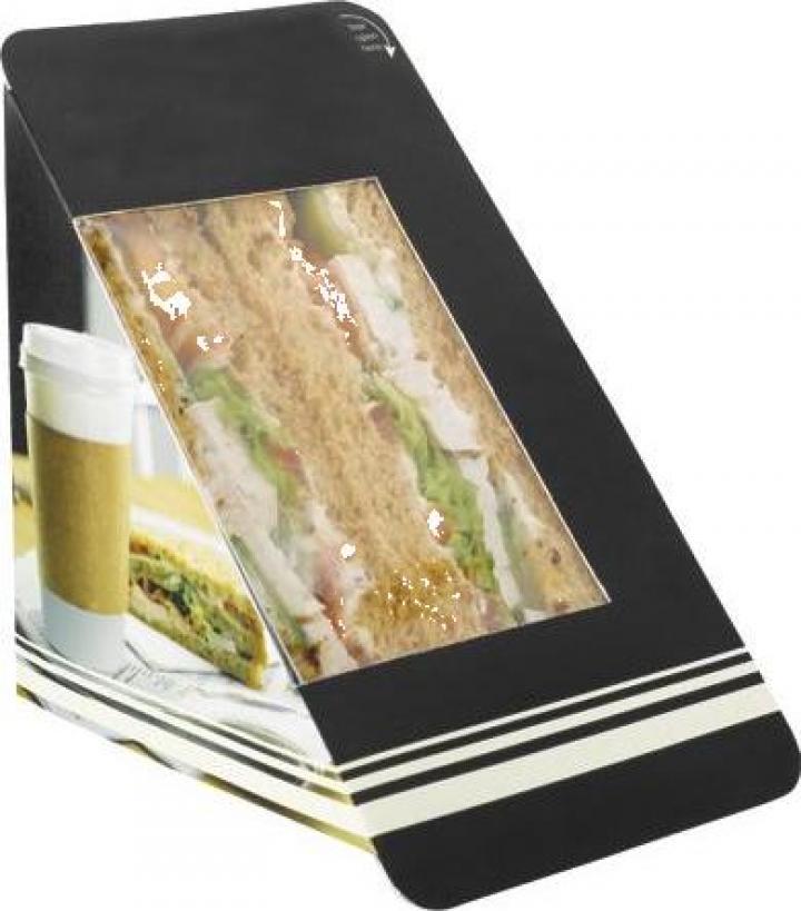 Ambalaj din carton pentru sandwich triunghi