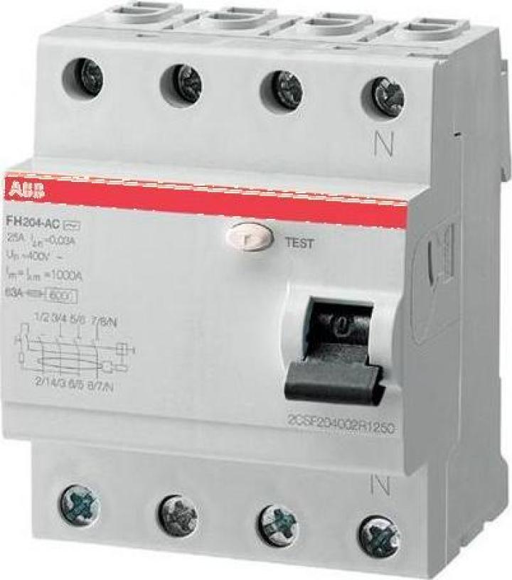 Intrerupator automat diferential ABB FH204 AC-25/0,03
