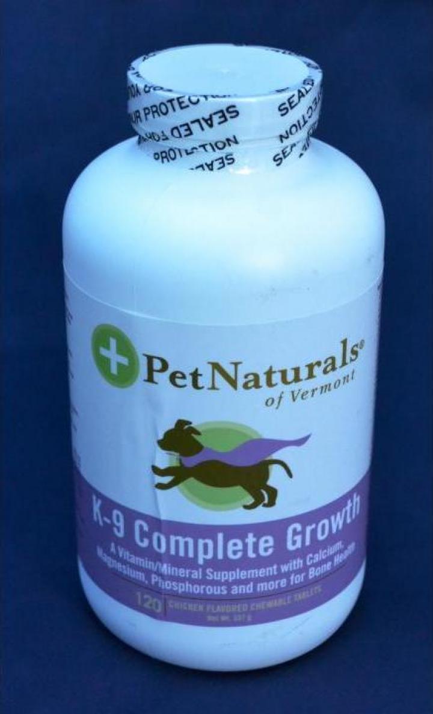 Supliment nutritional pentru caini K-9 Complete Growth