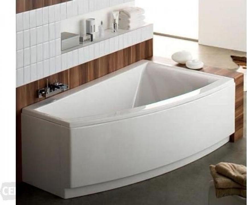 Cada baie colt asimetrica 160x100 cm