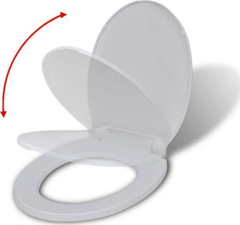 Capac WC rotund cu inchidere silentioasa, alb