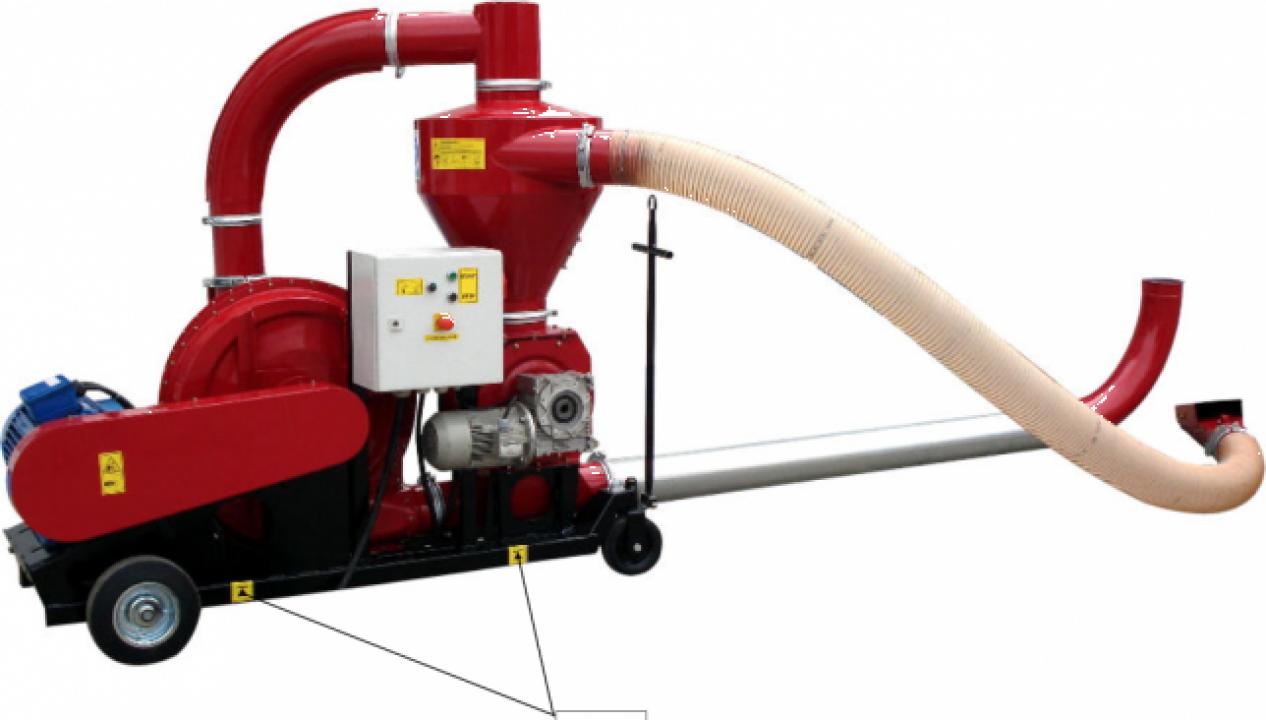 Transportor pneumatic pentru cereale T449/2