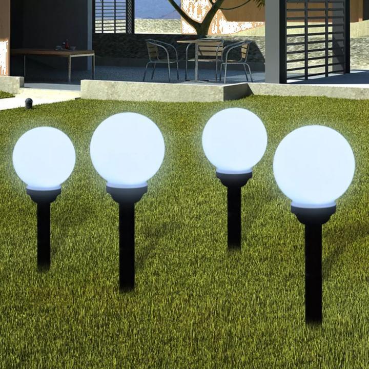 Lampi solare pentru exterior cu LED-uri + tarusi