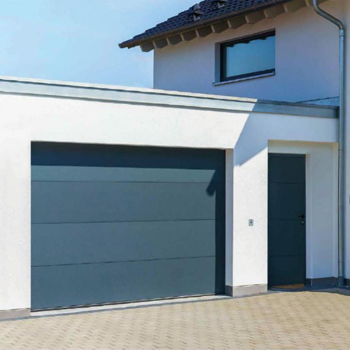 Usa de garaj Optimal 40, RAL 7016, gri antracit 2500x2125