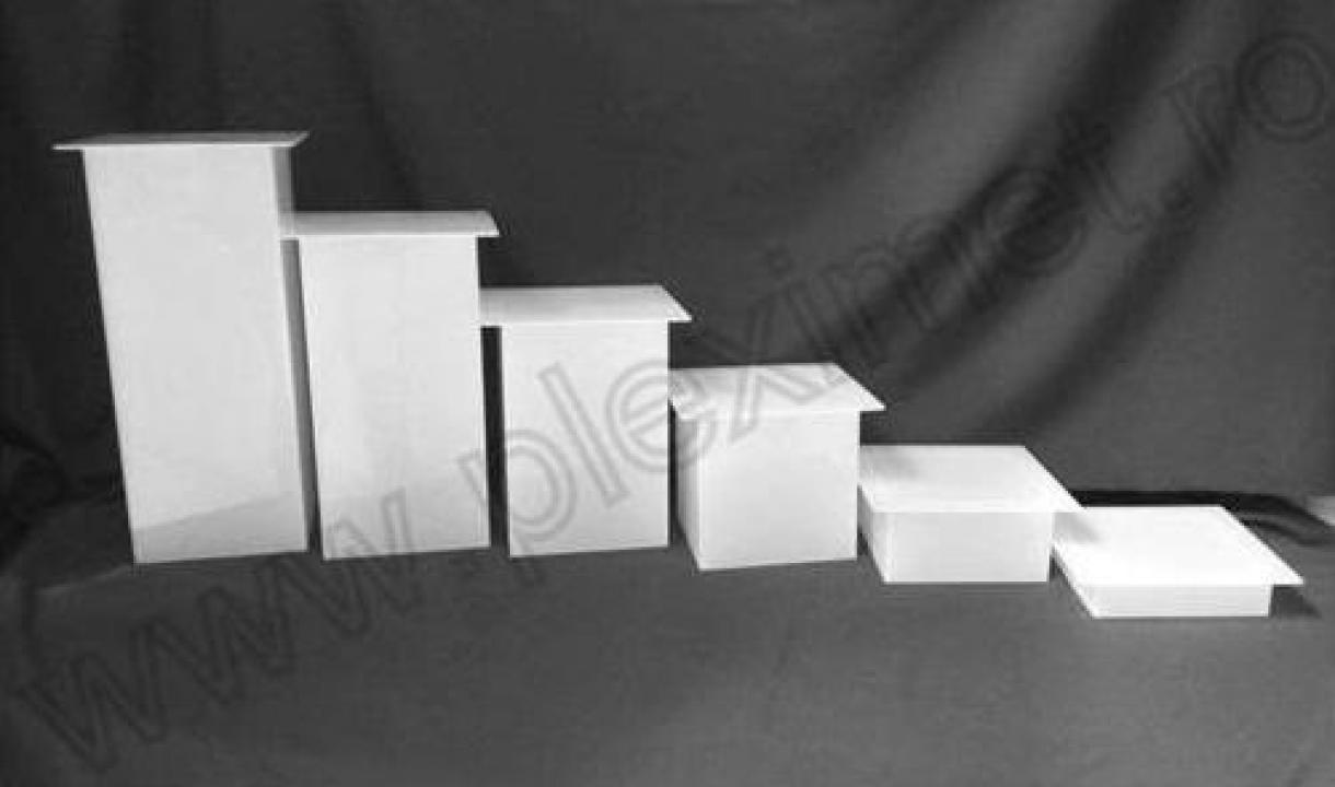 Suport sub forma de piedestal pentru candy bar SPEv 32