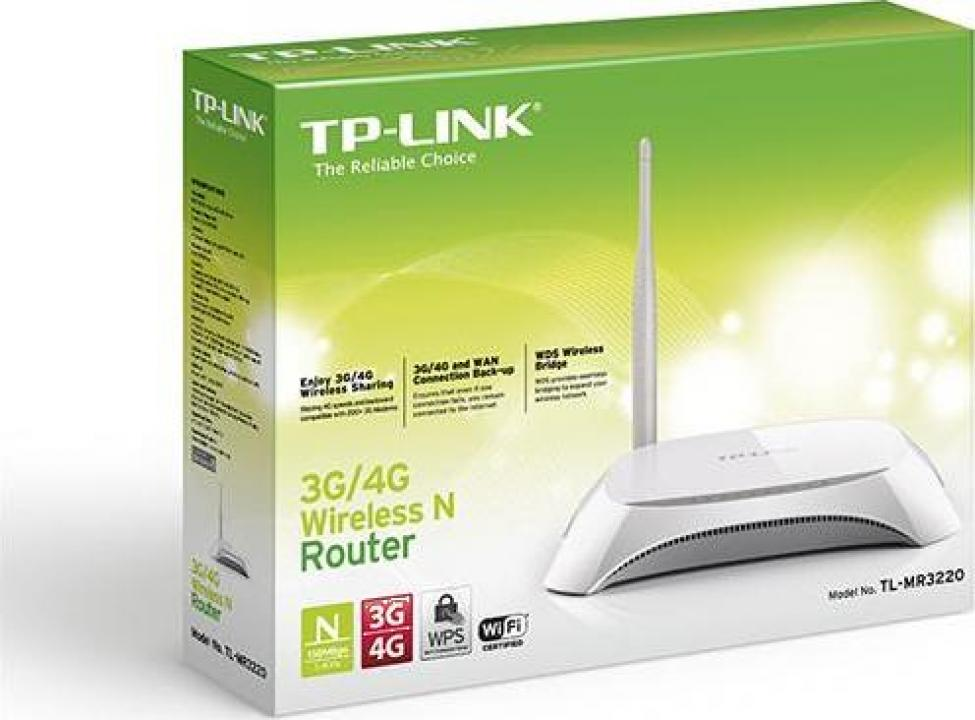 Router wireless TP-Link TL-MR3220-3, 4G, 5dbi