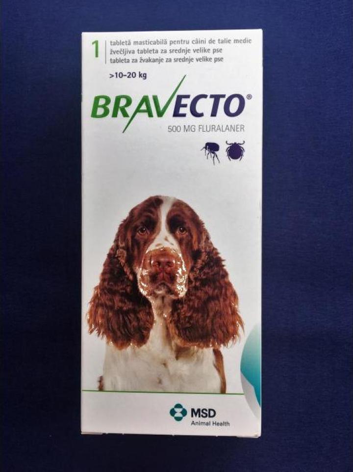 Produs veterinar anti capuse si purici Bravecto 10-20 kg