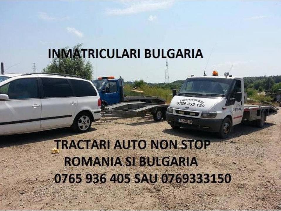 Tractari auto non stop Bulgaria, platforma 8 m