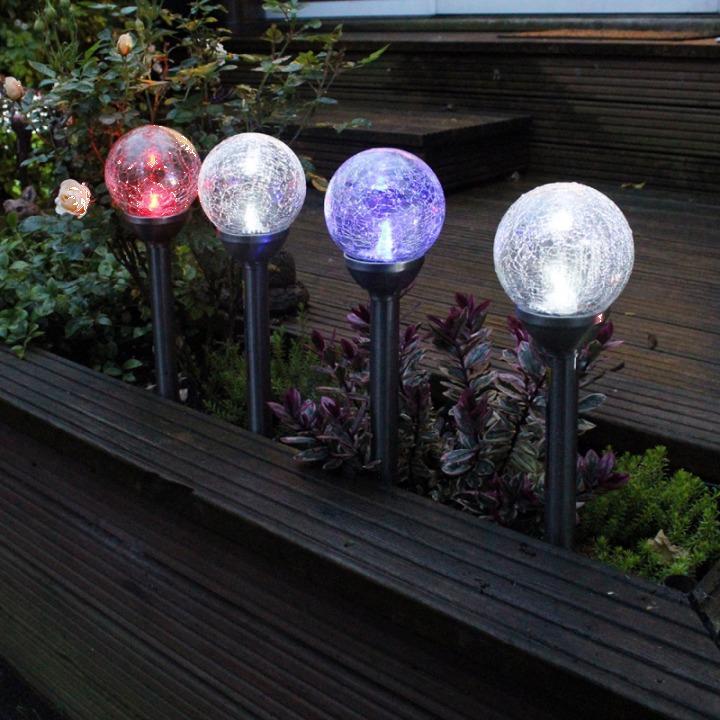 Lampa solara pentru gradina iluminat LED multicolor - 45 cm