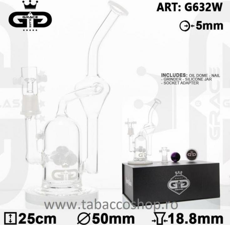 Bong din sticla in cutie GG OG Series Watermill 25cm