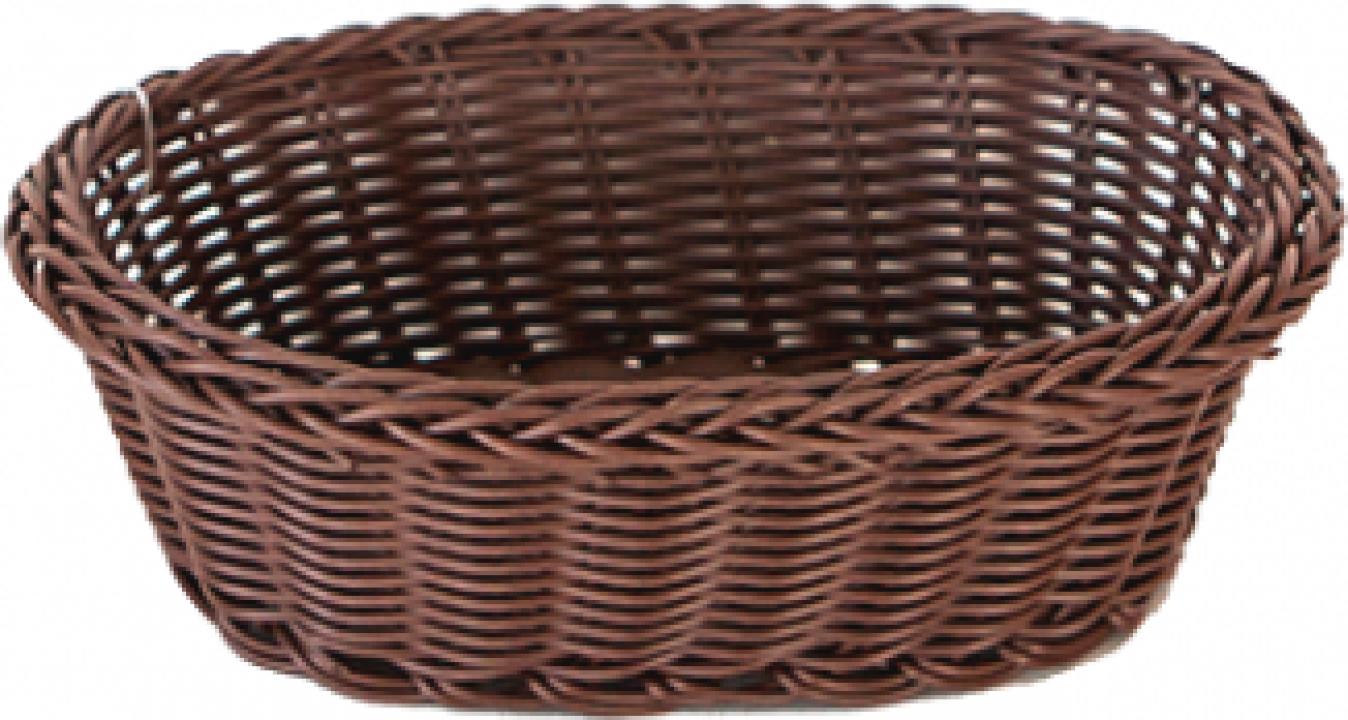 Cos servire paine oval Raki 21x16x7cm culoare cafea