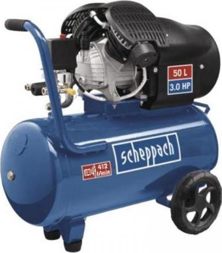 Compresor cu piston, putere 2.2 kW, HC 52DC Scheppach