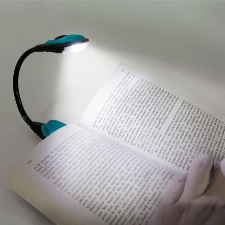 Lampa de carte cu clips de prindere