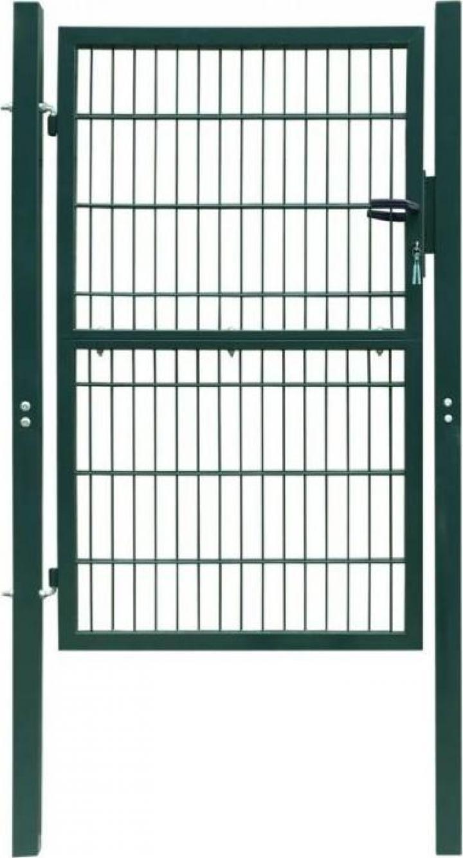 Poarta 2D pentru gard (simpla) 106 x 190 cm, verde