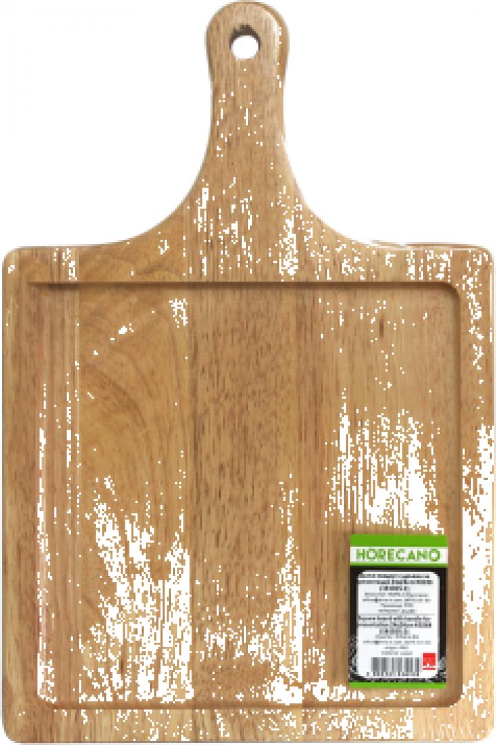 Platou patrat cu maner prezentare servire Raki 28x28cm lemn