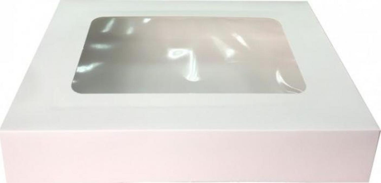 Cutie carton cu fereastra alba 24,5x34,5x6,5cm 25buc/set