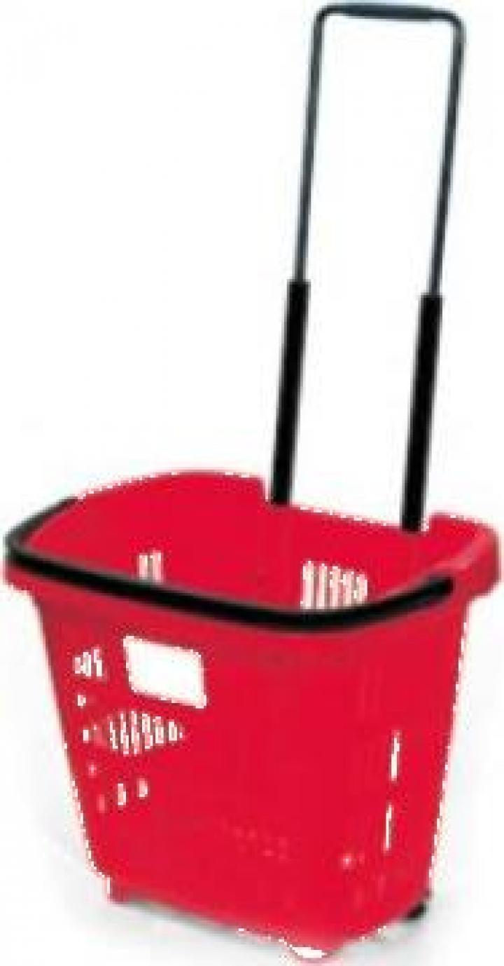 Cos cumparaturi Roller din plastic 34 litri