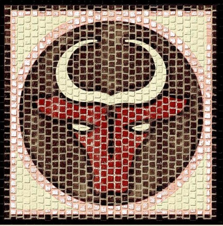 Mozaic decorativ ceramica horoscop Taur Domenech