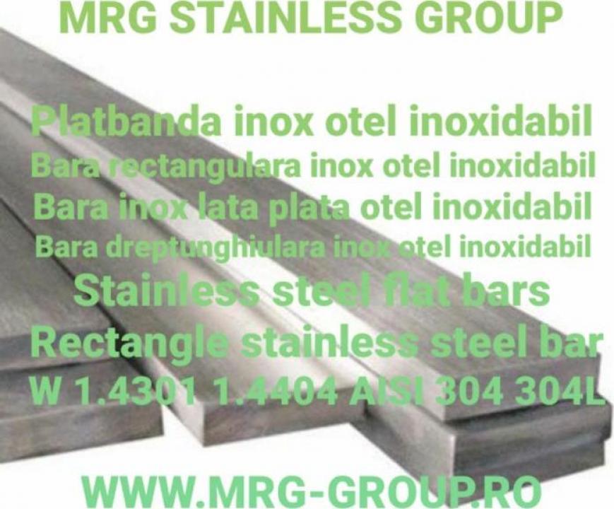 Platbanda inox 60x4x4000 304 W 1.4301 316L W1.4404 bara inox