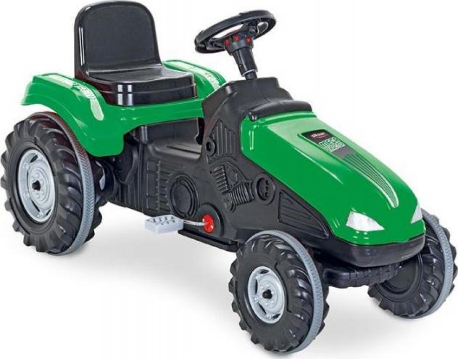 Jucarie tractor cu pedale Pilsan Mega verde
