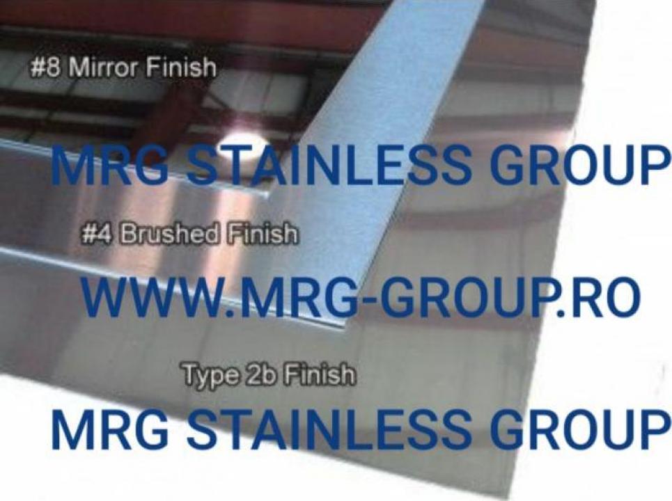 Tabla inox mata 0.3x1000x2000mm 2B AISI 304 304L 430 316 316