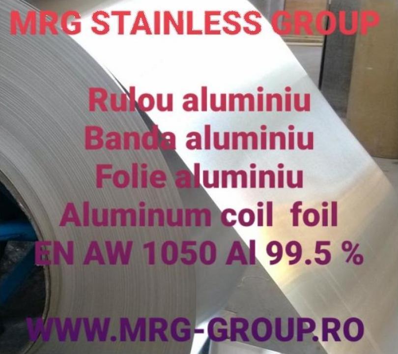 Rulou aluminiu 0.05x500mm, tabla rulou aluminiu EN-AW 1050