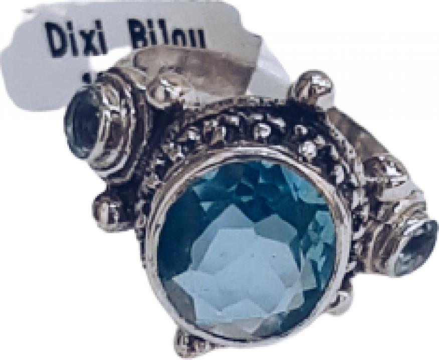 Inel argint cu topaz