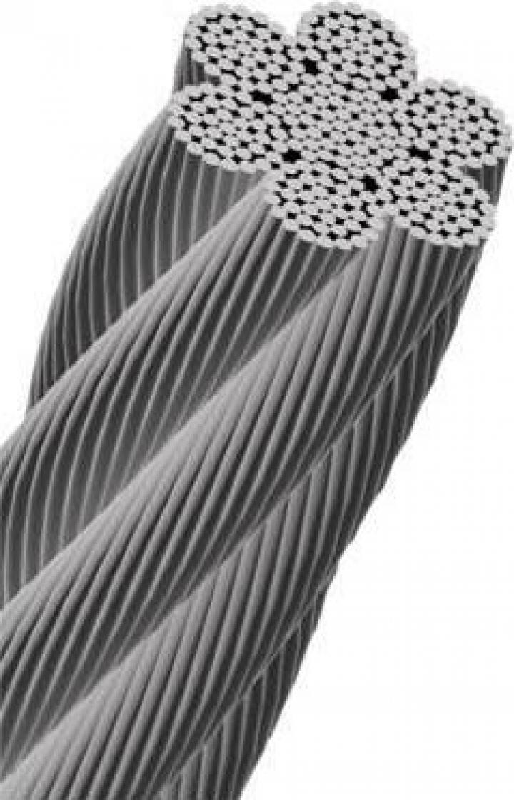 Cablu tractiune 6X37, IWRC (inima metalica)