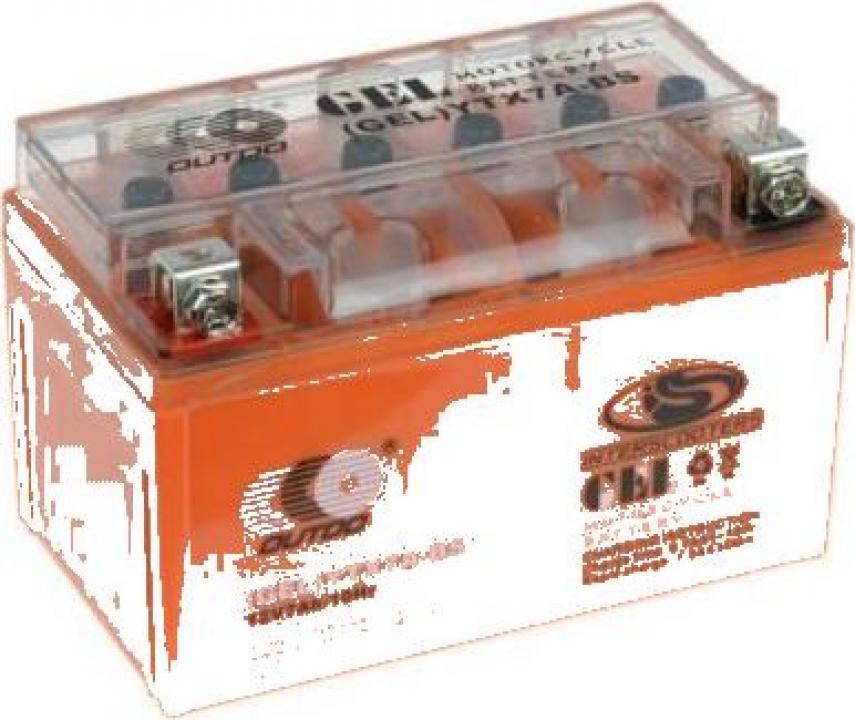 Baterie gel scuter, Atv 7ah 12V (portocalie)