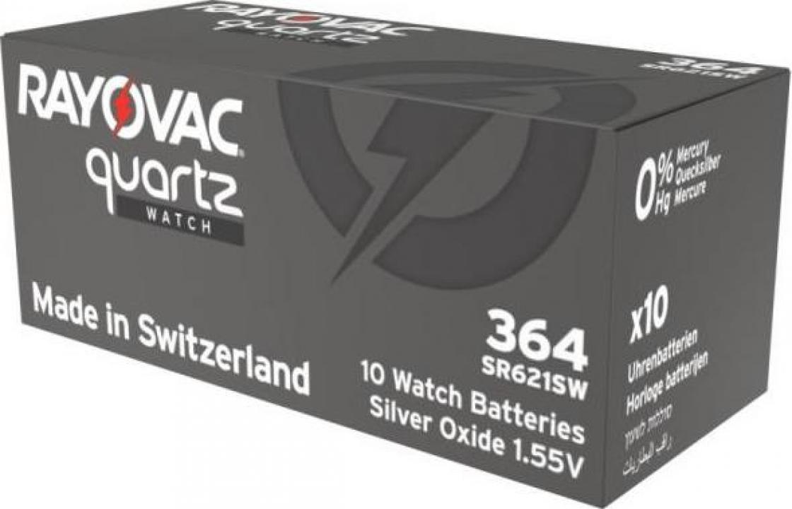Baterii ceas Rayovac 364 (AG1) cu oxid Argint