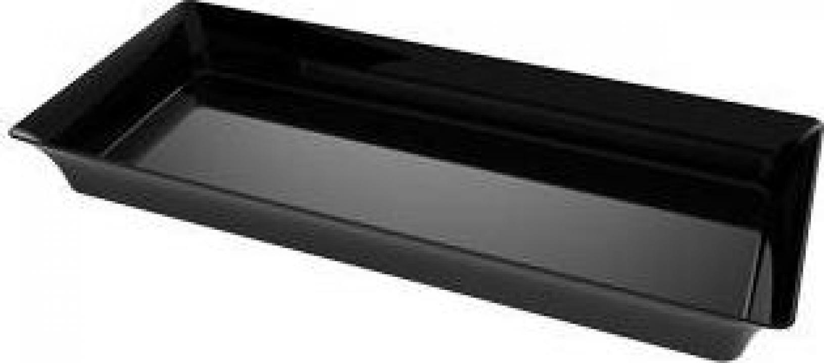 Set 24 mini tavite plastic unica folosinta, 5x13 cm - negre
