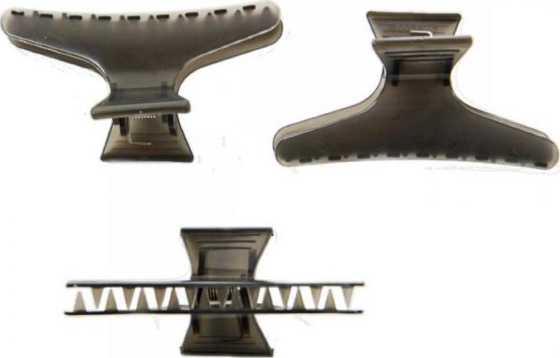 Clema par, plastic, negru, L, 8.3cm (12 bucati)