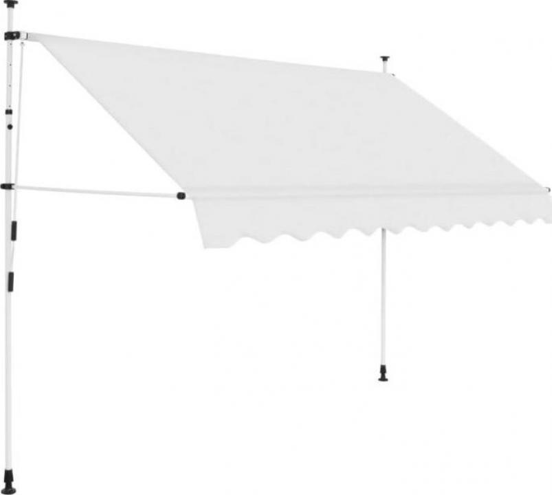 Copertina retractabila manual, crem, 300 cm