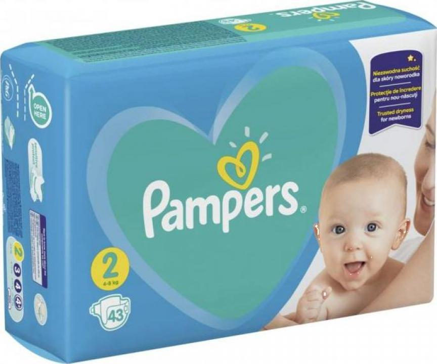 Scutece Pampers Active Baby 4-8kg Mini 2 (43 buc)