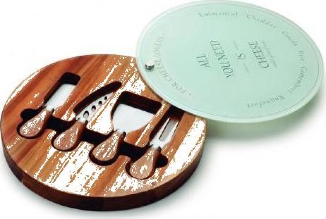 Set 4 piese ustensile servire branzeturi fine Lacor